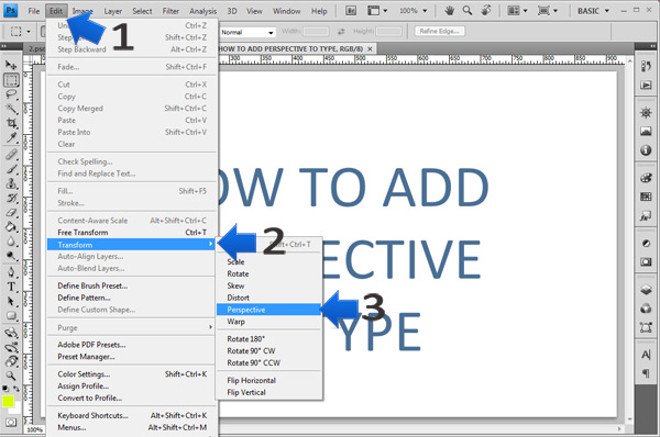 photoshop perspective text step 3