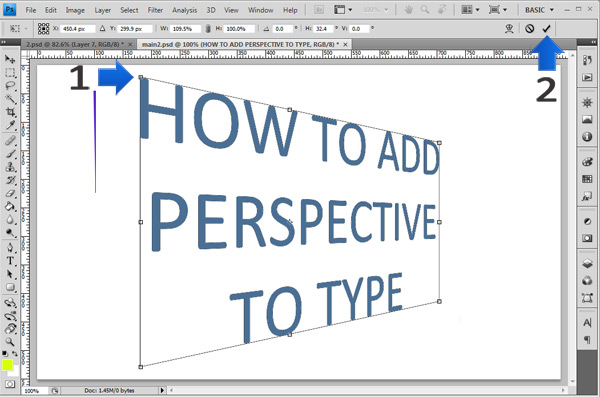 photoshop perspective text step 4